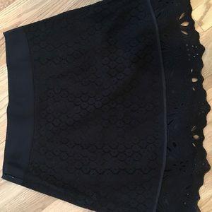 Loft Black Lace Overlay Skirt